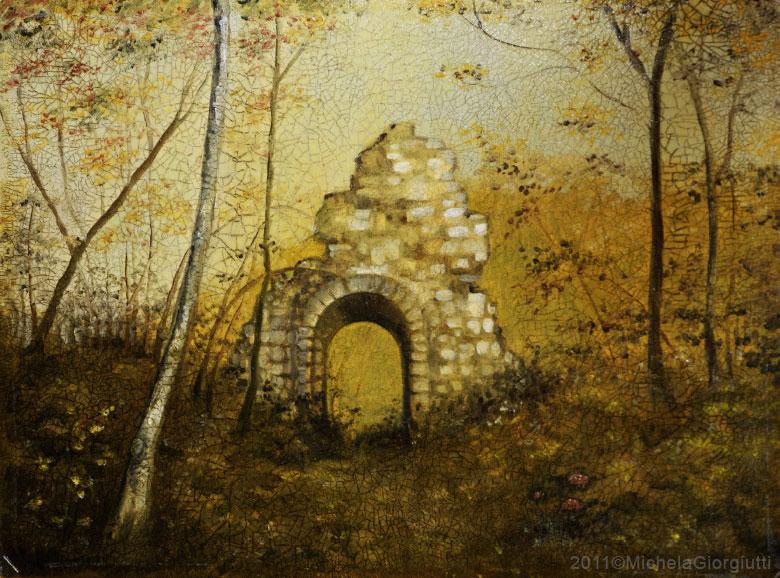 Craquelet delle rovine del castello di Solimbergo