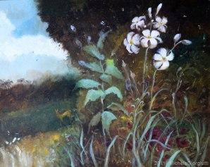Gigli di campo ed altre erbe spontanee ispirati al giardino incantato di John William Waterhouse