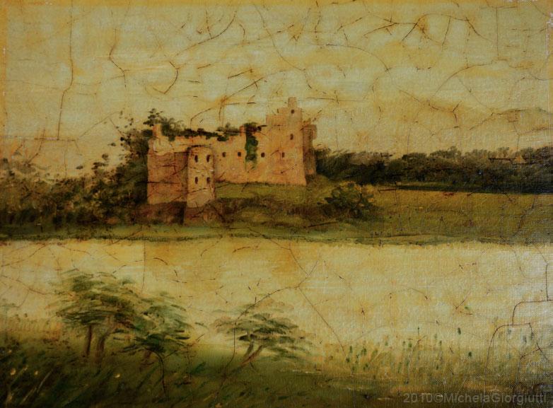 Veduta delle rovine del castello