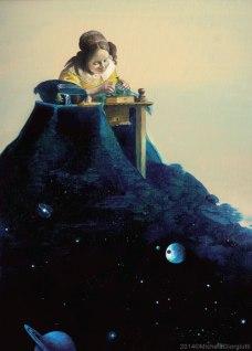 Merlettaia di Vermeer che tesse l'Universo