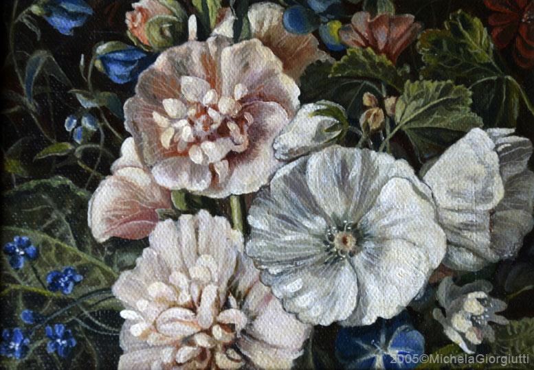 Composizione di fiori ispirata ad un quadro fiammingo